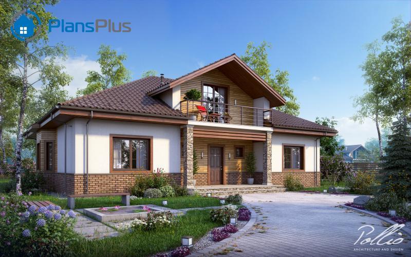 X1. X1 - проект классического дома с мансардным этажом