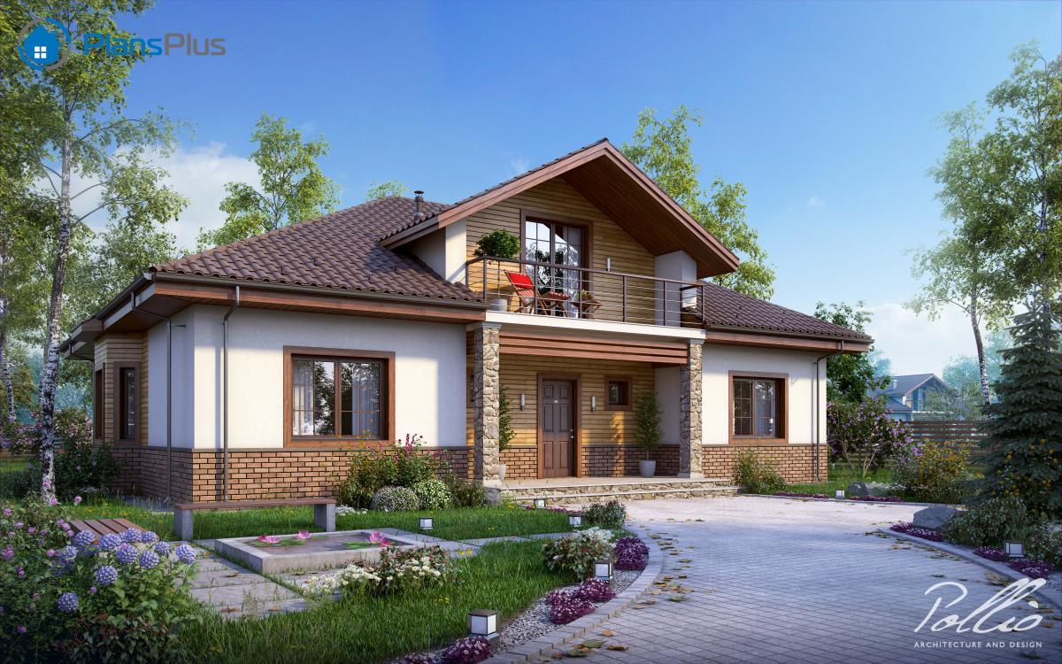 X1 X1 - проект классического дома с мансардным этажом фото