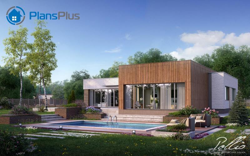 X9. X9 - Cовременный проект дома с сауной и джакузи