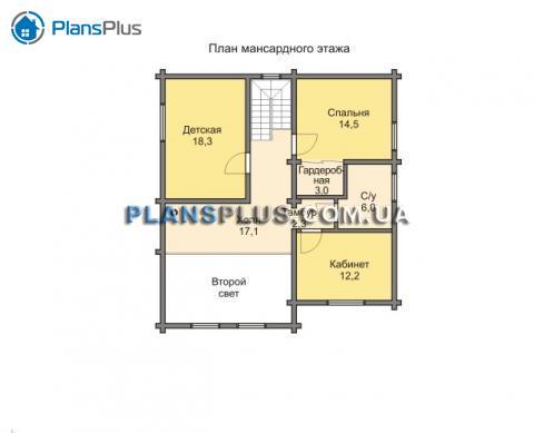 Планировка мансарды / 2го этажа M103
