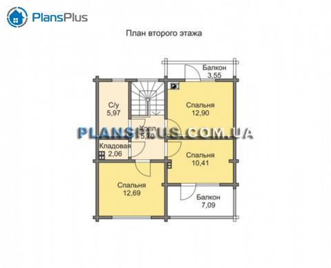 Планировка мансарды / 2го этажа M133