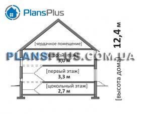 Расположение дома на участке M160
