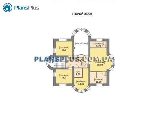 Планировка мансарды / 2го этажа M160