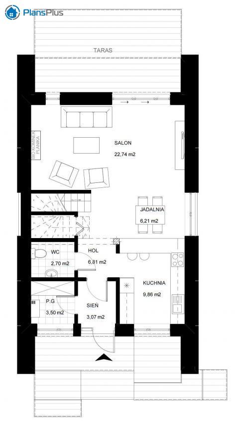 планировки первого этажа проекта AV