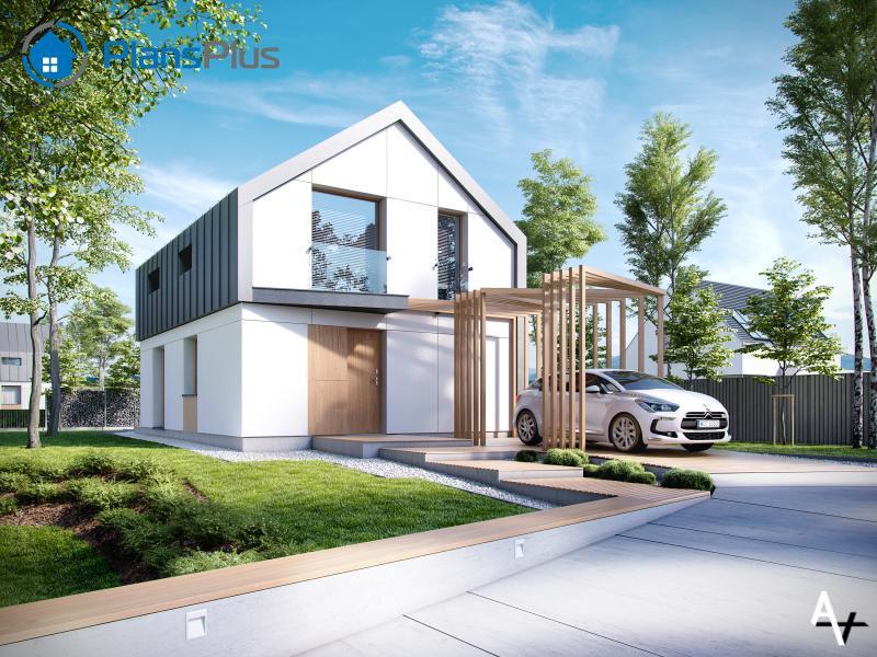 """P1. P1 - проект двух этажного дома по технологии """"пассивный дом"""""""