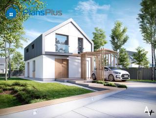"""P1 P1 - проект двух этажного дома по технологии """"пассивный дом"""" фото 1"""