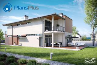 """X11 X11 - проект современного двухэтажного дома по технологии """"энергоэфективный дом"""" фото 3"""