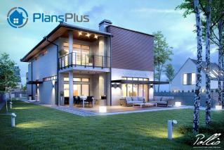 """X11 X11 - проект современного двухэтажного дома по технологии """"энергоэфективный дом"""" фото 4"""