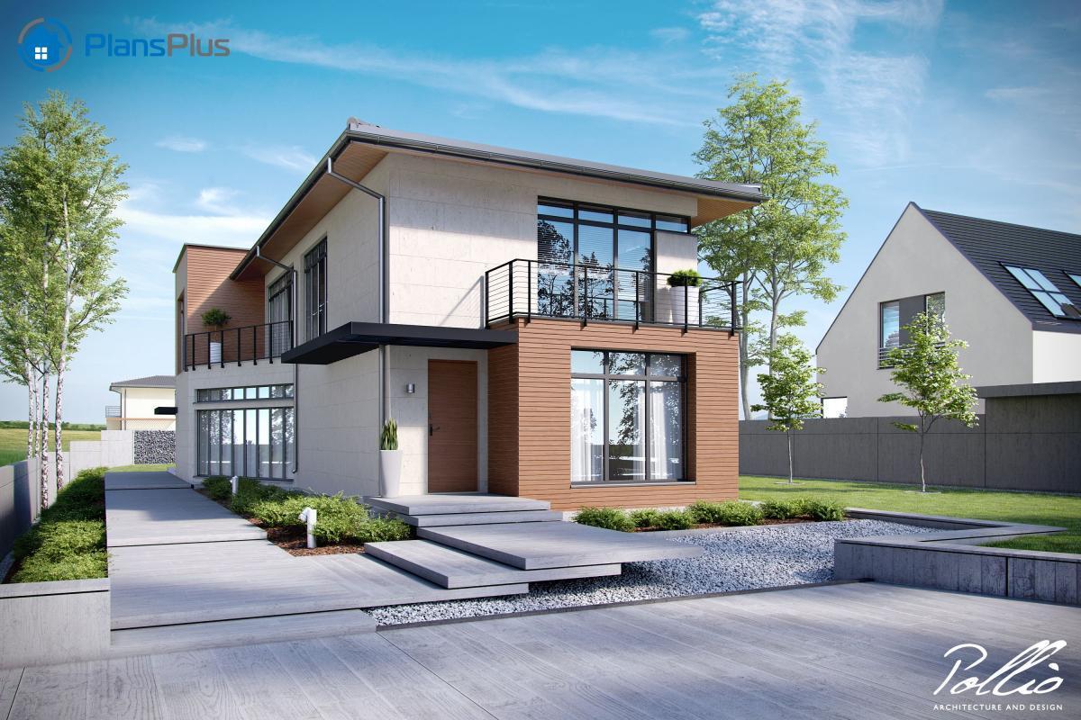"""X11 X11 - проект современного двухэтажного дома по технологии """"энергоэфективный дом"""" фото"""