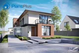 """X11 X11 - проект современного двухэтажного дома по технологии """"энергоэфективный дом"""" фото 1"""