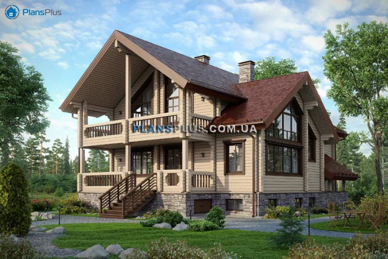 M144. М144 - проект классического просторного трехэтажного деревянного дома