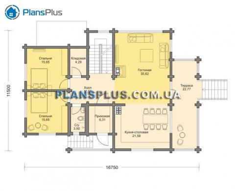 планировки первого этажа проекта M144