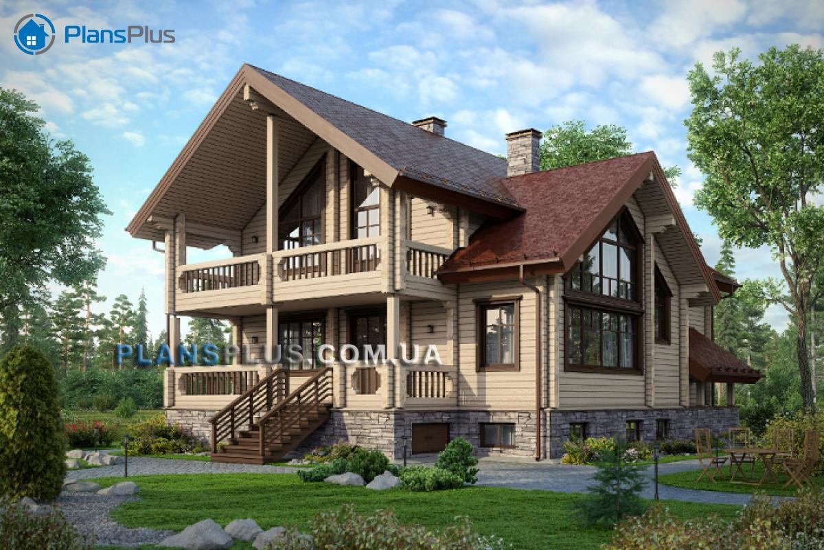 M144 М144 - проект классического просторного трехэтажного деревянного дома фото