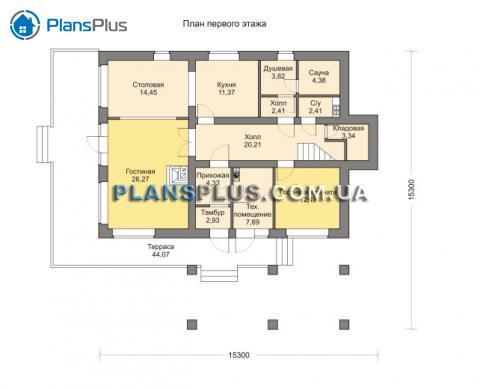планировки первого этажа проекта M189