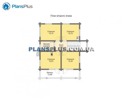 Планировка мансарды / 2го этажа M189