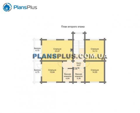 Планировка мансарды / 2го этажа M190