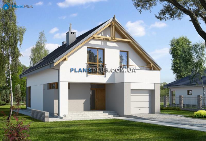 E107. E107 - проект популярного классического дома с мансардой