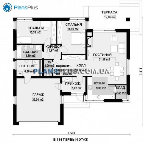 планировки первого этажа проекта E114