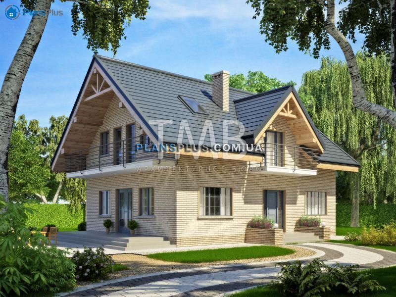 Alpina. Alpina - популярный проект классического дома с мансардой