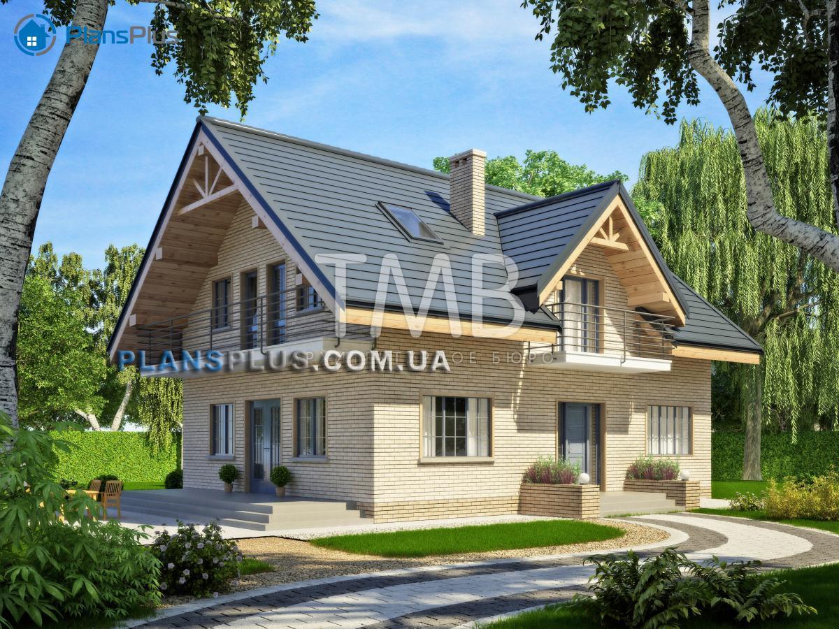 Alpina Alpina - популярный проект классического дома с мансардой фото