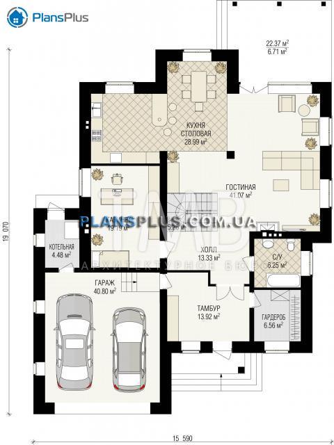 планировки первого этажа проекта Amadey