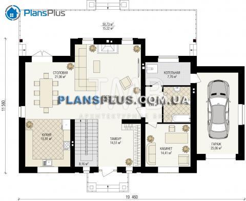планировки первого этажа проекта Borneo