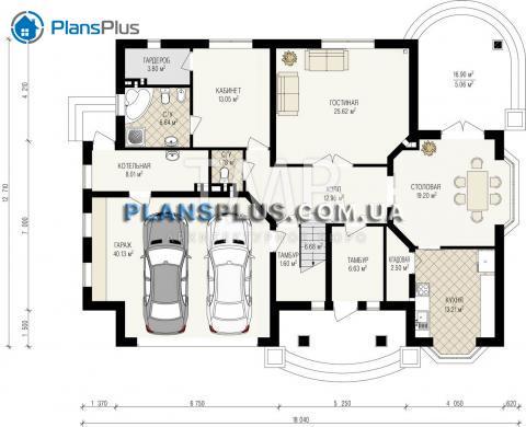 планировки первого этажа проекта Midas