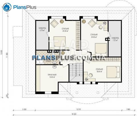 Планировка мансарды / 2го этажа Midas